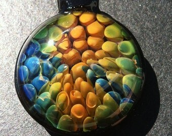 Gold and Silver fumed Pendant