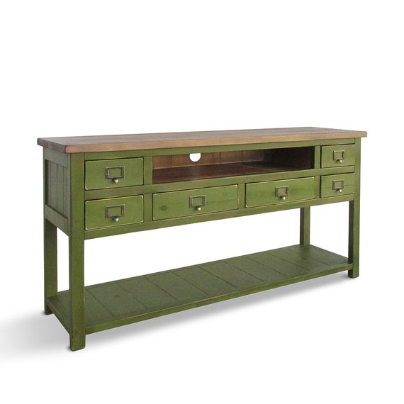 Media Console Tv Stand Console Table Reclaimed Wood