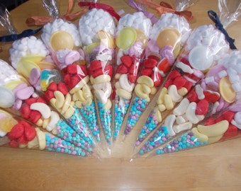 pre-filled sweet cones,SET of 20,  party favours, birthday gifts, rewards, party bags, christenings much and more