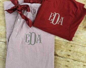 Monogrammed pajamas   Etsy