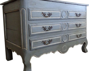 18th Century Antique French Louis XV Period Faux Commode Trunk