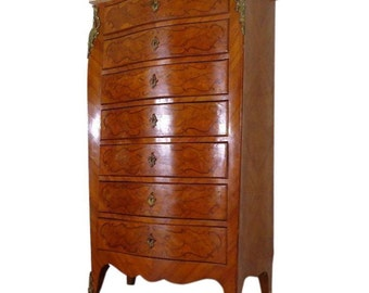 Antique French Louis XV Style Lingerie Cabinet Semainier