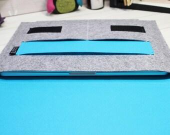 Tablet case, iPad sleeve, iPad Air 2 case, iPad Pro case, tablet case, tablet sleeve, iPad Pro sleeve, iPad Air sleeve, gray iPad case