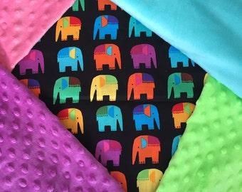 Personalized Colorful Thai Elephant Blanket
