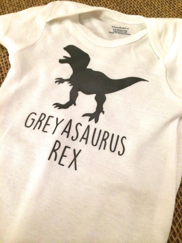 Custom Dinosaur T Shirt Infant Toddler Youth Kids Sizes