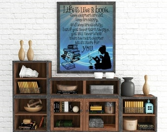 "Personalized ""Life Is Like A Book"" Wall Art"