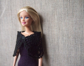 Purple Dress and Cape/ Grey Dress/ Barbie Accessory/Barbie clothes
