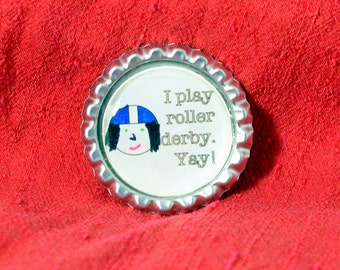 I Play Roller Derby.  Yay!  Pendant