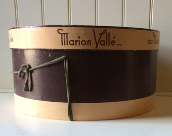 Marion Valle' Inc. / 501 Madison Avenue New York / Vintage Hatbox
