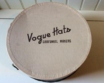 Vogue Hats / Garfunkel Makers/Vintage Hatbox/Millinary Hatbox/Decorative Storage/Functional Decor/Vogue Hatbox/Collectible Hatbox/Hatboxes