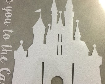 Customizable  Castle Iron on - Princess Castle Iron On - Prince - Sleeping Beauty