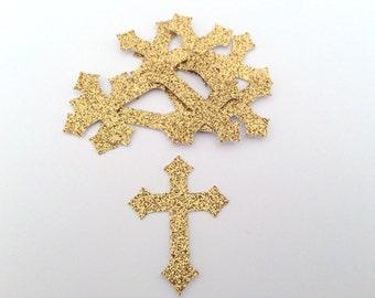 Christening confetti / Baptism confetti / Cross confetti / Gold or Silver glitter /First communion/ Holy first communion/ Crux/Boy or girl/