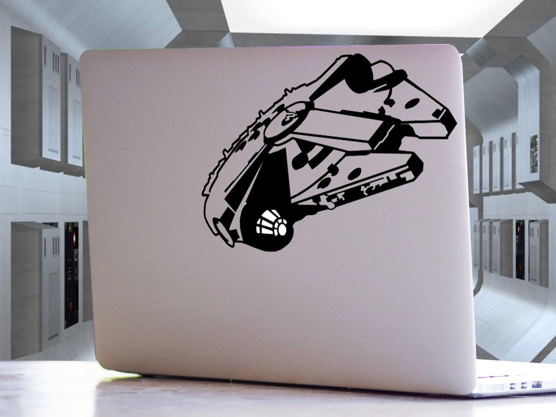 the office tv show michael jim pam dwight macbook millennium falcon star wars inspired macbook laptop car wall mac ipad locker decal sticker
