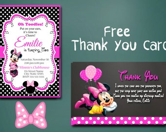 Minnie Mouse Birthday Invitations / Minnie Invitation / Invitaions / Minnie Mouse /  Birthday / Minnie's sale / Minnie / Minnie Birthday