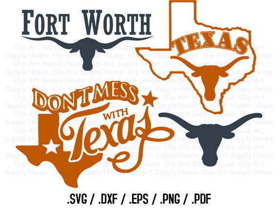 Texas State Outline State Decor Longhorns Svg Files