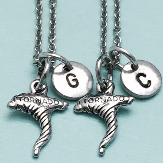 best friend necklace tornado necklace disaster necklace bff