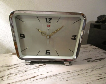 Mechanical Chinese Clock. Phosphorescent arrows. Alarm Clock POLARIS