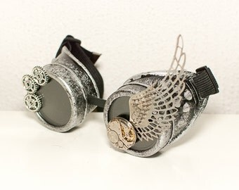 Steampunk goggles with wing