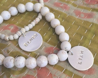 Bracelet with white beads