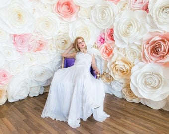Paper Rose backdrop wall