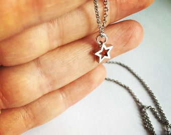 Star necklace sterling silver Necklace 4th of july necklace fourth of july necklace patriotic jewelry fourth of july accessories