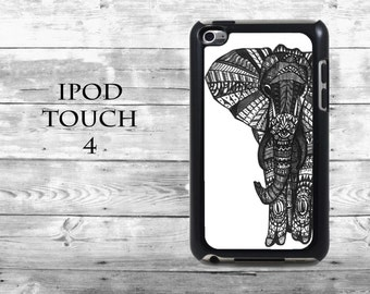 Amazing Elephant Tribal drawing - iPod Touch 4G case - animal drawing phone iPod Touch case,  iPod cover