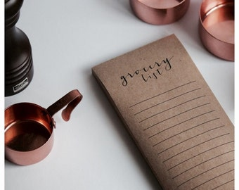 Notepad - 100% Recycled Kraft Paper - Grocery List