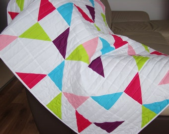 Modern Baby Girl Quilt / Quilt for Sale /Handmade Baby Quilt / Modern Baby Quilt / Toddler Quilt / Baby Blanket / Crib Quilt / New Baby Gift