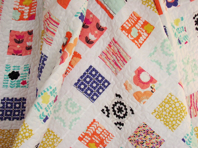 Twin Quilt / Twin Size Quilt / Bed Quilt / Patchwork Quilt