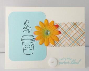 Coffee Greeting Card Coffee Themed Card Coffee Card Handmade Greeting Card