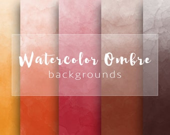 Ombre watercolor, suede,  for personal and small commercial use
