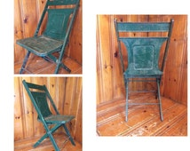 Unique Metal Folding Chair Related Items Etsy