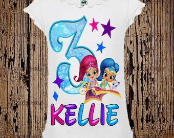 Shimmer and Shine Birthday Shirt - Shimmer and Shine Shirt