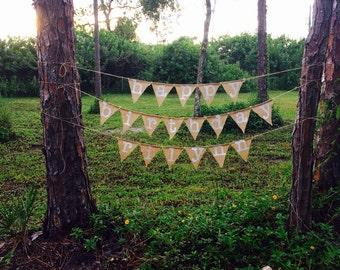 Personalized Happy Birthday Burlap Banner