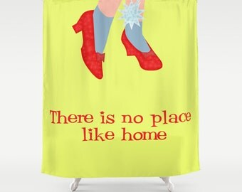 Wizard of Oz shower curtain-Yellow curtain-Cool cinema lover pillow-71x74 shower curtain-Etsy gift-Modern bathroom curtain-Colourful bath
