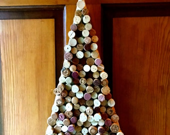 Hanging Wine Cork Christmas Tree (large)