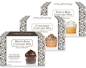 Cupcake and Frosting Mix Trio Gift Set