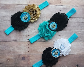 Jacksonville Jaguars Baby Headband! Customized just for you!!!