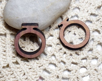 Ring Blanks --10pcs Antique wood Ring Base - Two sizes