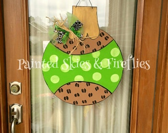 Christmas Ornament Door Hanger / Leopard