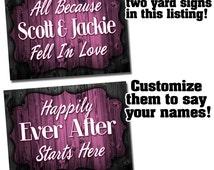Wedding Corrugated Plastic Yard Sign - Wedding Yard Sign - Yard Signs - Customizable Yard Sign