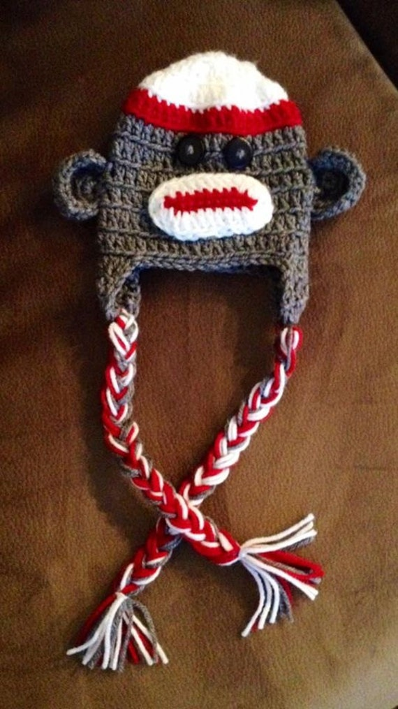 Free Crochet Pattern For Sock Monkey Hat With Ear Flaps ~ Traitoro for .