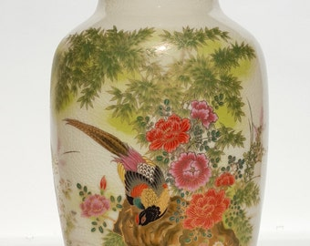 Chinoiserie Vase with Stand