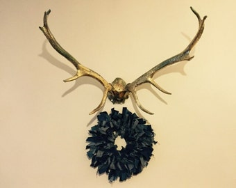 Denim rag wreath