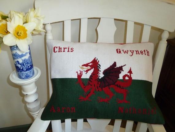 Bespoke, Personalised, needlepoint cushion, pillow, flag, designed for you