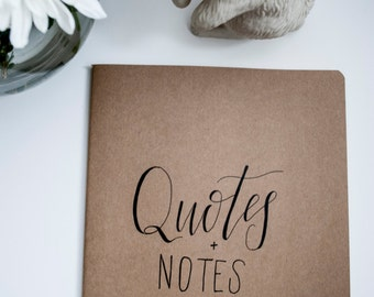 Quotes & Notes - Blank Moleskin Notebooks
