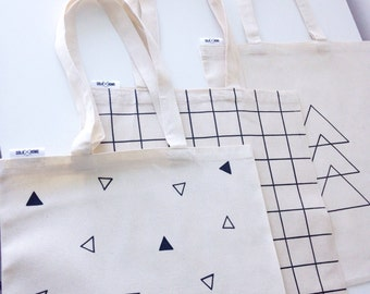 Tote bags,triangles canvas tote bag, eco bag,reusable grocery bags,reusable shopping bags,shopping bags,canvas bag,eco friendly bag