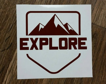 Explore Decal Hiking Decal Camping Decal
