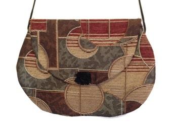 Jacquard crossbody bag ,Large crossbody bag, handmade crossbody, handmade bag, purses and bags hip bag, handbags, purses. shoulder bag purse