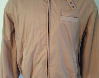 Vintage Members Only style Men's Brown Jacket Large XL Contour Retro 70's 80's